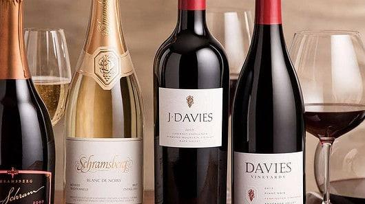 Davies and Schramsberg bottles